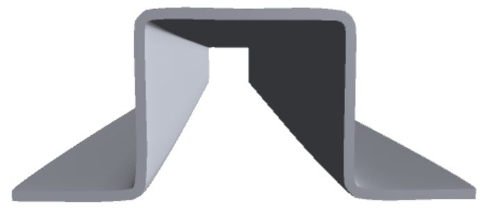 Hat Channel Product Fht P002 Component Front Galvanized