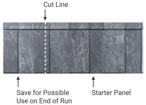 Sentry Slate Metal Shingle Cut and Stagger